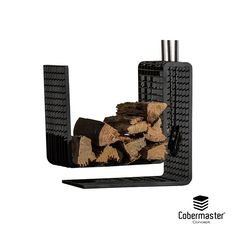 BOLD Fireplace Support Wood Holder 3D Grating Severa Finnishings Wood Storage, Three Dimensional, Bookends, Product Launch, Concept, 3d, Design, Lumber Storage, Design Comics