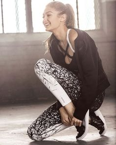 Gigi Hadid for Reebok athletics - celebrity style