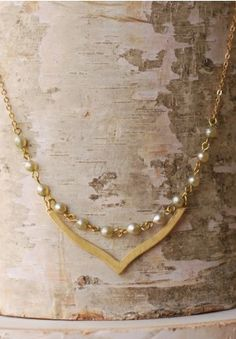Pearl and Gold Necklace | Necklace | Vintage Necklace