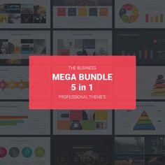Business PowerPoint Mega Bundle Templates #design #slides Download: http://graphicriver.net/item/business-mega-bundle/13638503?ref=ksioks