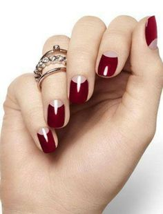 Love these nails retro manicure red