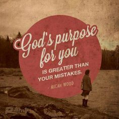 God's purpose for you is greater than your mistakes #god #faith #salvationarmy