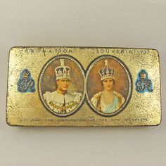Vintage King George V1 Tin English Coronation 1937 by RealOldFinds, £25.50