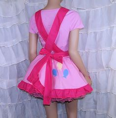 MLP Pinkie Pie Pink Pinafore Apron Costume Skirt by mtcoffinz