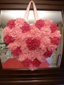 Valentine Heart - Tissue Flowers
