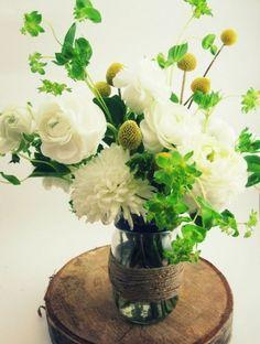 Fleurs blanches douces