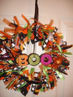 Halloween Decor Wreath by ABusyLadyCrafts on Etsy