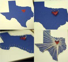 string art heart map