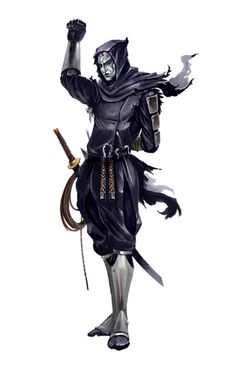 Human Male Ninja - Mask of Razmir - Pathfinder PFRPG DND D&D 3.5 5th ed d20 fantasy
