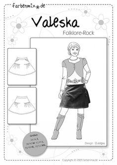 VALESKA, Papierschnittmuster - farbenmix Online-Shop - Schnittmuster, Anleitungen zum Nähen