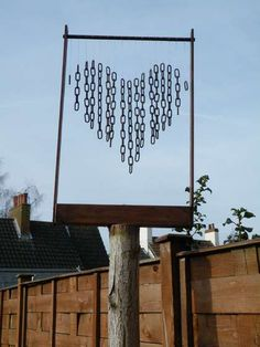 Heart-shaped Wind Chime. I kinda want to make this.