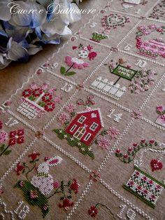 """Милые сердцу штучки: Вышивка крестом: """"Весенний календарь от """"Cuore e Batticuore"""" (Италия)"""