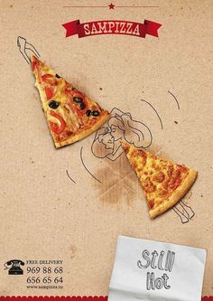 Smoking Designers- replacing the couple's body with pizza Pizza Branding, Pizza Logo, Kids Pizza, Pizza Art, Creative Pizza, Creative Food, Creative Ideas, Food Graphic Design, Menu Design