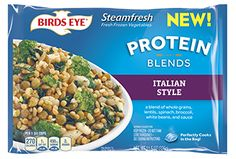 Italian Style - Delicious blend of whole grains, lentils, spinach, broccoli, white beans, and sauce. Perfectly cooks in the bag! (CONTAINS: WHEAT, MILK).