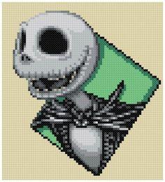 PDF Cross Stitch pattern 0244.Jack Skellington by PIXcross
