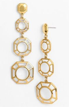 Tory Burch Audrina Linear Earrings Gold