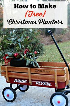 How to Make Free Christmas Planters Tutorial | Southern State of Mind