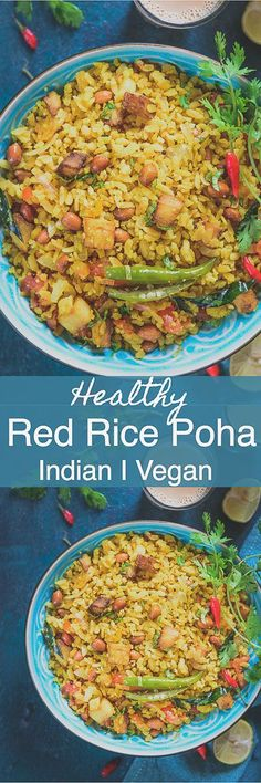 Red Rice Kanda Poha, Red Rice Poha Recipe or Red Poha Upma is a healthy and delicious breakfast option made using red poha and is very easy to make as well. Indian I Healthy I Breakfast I recipe I Food I Photography I Easy I simple I quick I best I For Kids I Red Poha I red Rice Poha I