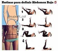 Sigue esta rutina para poder lograr un abdomen bajo en menos de lo que crees.