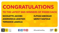 Ithuba National Lottery | Home National Lottery, Congratulations, Text Posts