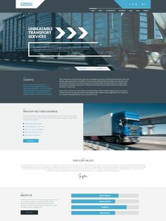 WordPress theme for transport and logistic (premium theme) 👌 Create Website, Promote Your Business, Wordpress Theme, Online Business, Transportation, Design