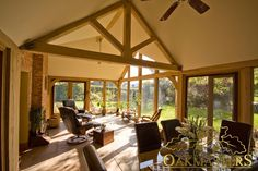 Dual aspect garden room built to match a cottage - Oakmasters