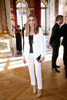 A Winter-White Suit Looks Most Luxe With Golden Accents
