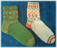 ColorJoy by LynnH Kenya and Ethiopia inspired Socks