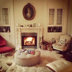 Morning Fire Maximalist Interior, Living Spaces, Living Room, Home Decor Inspiration, House Tours, New Homes, Pillows, Interior Design, Live