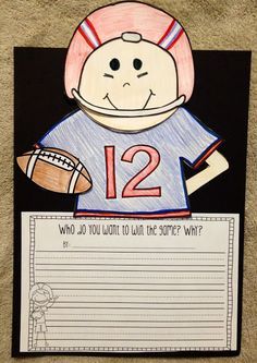Football craft and writing prompts!