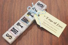A neat little gift idea for get well, travel gift, or pretty much any occasion. Enclose notes, treats, cash and tiny gadgets... especially fun for that person who has everything.