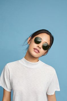 Tops & Shirts for Women Silver Tops, Wet Look, Mock Neck, Round Sunglasses, Crew Neck, Tank Tops, Tees, Women, Style
