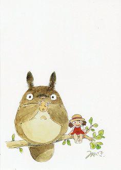Totoro postcard - childhood memories