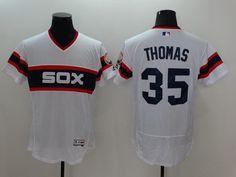 mens chicago white sox 35 frank thomas retired white pullover 2016 flexbase majestic baseball jersey