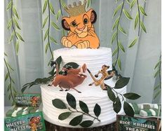 Personalized Party Decor for All Events by AMStudioCreations Half Birthday Baby, Baby Boy Birthday Themes, Lion King Birthday, First Birthday Parties, First Birthdays, Birthday Ideas, Lion King Baby Shower, Lion King Cakes, Le Roi Lion