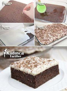 Karakız Tatlısı Tarifi Cake Recipes, Dessert Recipes, Sorbet, Turkish Recipes, Kakao, Trifle, Cakes And More, Beautiful Cakes, Cake Toppers