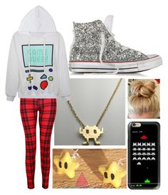 """Gamer Girl"" by liesjec on Polyvore featuring mode, Casetify en Converse"