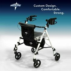 White Pearlescent Deluxe Rolling Walker By Medline® Weighs Just 12 Pounds by White Pearlescent. $154.99. Are you ready to rediscover the freedom of mobility, both indoors and out? The Deluxe Rolling Walker by Medline helps you walk faster and farther, adds stability, and reduces stress on your body. Its strong aluminum frame is safe and easy to maneuver, and provides a total weight capacity up to 250 pounds.