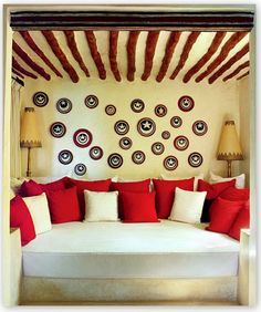 Exotic Living Room by E. Claudio Modola in Lamu, Kenya Corner Reading Nooks, Bedroom Reading Nooks, Hotel Bellevue, African Furniture, African Colors, Estilo Interior, African Interior, Interior Decorating, Interior Design