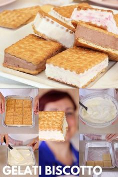 Gelato Homemade, Almond Cookies, Ciabatta, Antipasto, Easy Cooking, Food Art, Vanilla Cake, Italian Recipes, Nutella