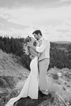 Bride and Groom Poses | Grey Suit | Wedding Dress Low Back | Grey White Hair Bride | Candid Poses | Soft Airy Photography | Alberta | Custom Wedding Dress | Elopement | White Sand | Creme Wedding | Tattoos | Low Back | Black and White Sleeve