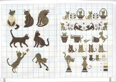 all kinds of cats! Look through the whole book, there are sheep, owls, and other animals all done in natural colors.