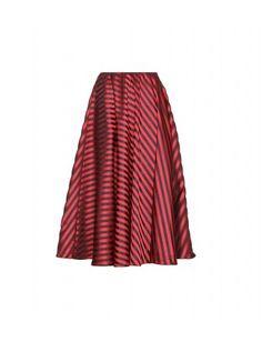 Miu Miu - Striped satin-twill midi skirt - mytheresa.com GmbH