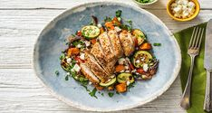 Looking for a tasty midweek dinner option? Try cooking up our Chicken with Feta & Roasted Veggies in just 35 minutes for a balanced and tasty meal.