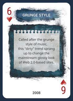 Custom Card Deck! Discover Web Design Trends 2004-2014 https://www.pinterest.com/templatemonster/win-the-web-design-trends-cards/  #webdesigntrends  #grungestyle #grungetrend #grungedesign