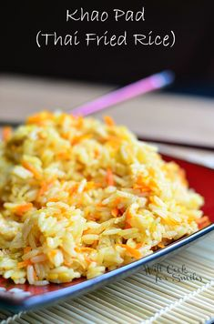 Khao Pad (Thai Fried Rice) | from willcookforsmiles.com | #friedrice #thai #rice