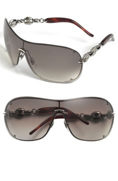 3f4a83faeb I want these! Gucci Rimless Shield Sunglasses available