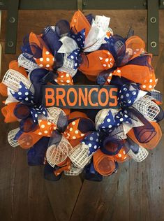 Hey, I found this really awesome Etsy listing at https://www.etsy.com/listing/261481168/denver-broncos-wreath-team-wreath-nfl