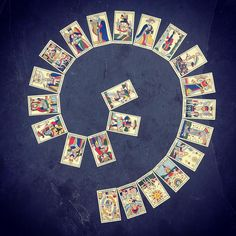 Soon I'll let you know how to get a full refund on your first tarot reading with me. For now watch the Fool begin in the middle and spiral their way out into the world. . . . . Thank you to my teachers @cameliaelias @gede_parma @barbaramoore07 . . #tarot #spiral #life #reading #divination #witchcraft #witch #design #graphicdesign #photography #majors #majorarcana #arcana #jeannoblet #priestess #world #travel #journey #everything #inspiration #symbol #symbology #cards #art #fortuneteller…