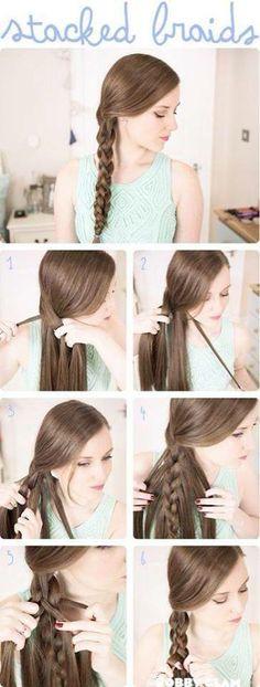 Peinado con trenza doble